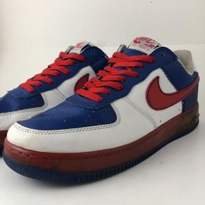 VINTAGE Nike Air Force 1 [Red White & Blue] - 10.5